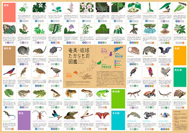 奄美・沖縄周遊トラベルノート 付録ポスター