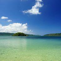 西表島・祖納集落にある海岸は静かでのんびりできる/西表島
