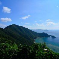 海の美しさを体感できる『花富(けどみ)峠』/加計呂麻島
