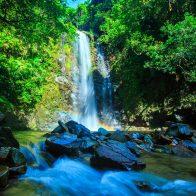 大宜味村にあるター滝はマイナスイオンたっぷり/大宜味村