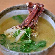 「ガザミ(渡り蟹)汁」は蟹の旨味が凝縮された濃厚な美味しさ/西表島