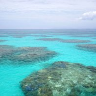 波照間島・ニシ浜の沖に広がる巨大なリーフ(サンゴ礁)/波照間島